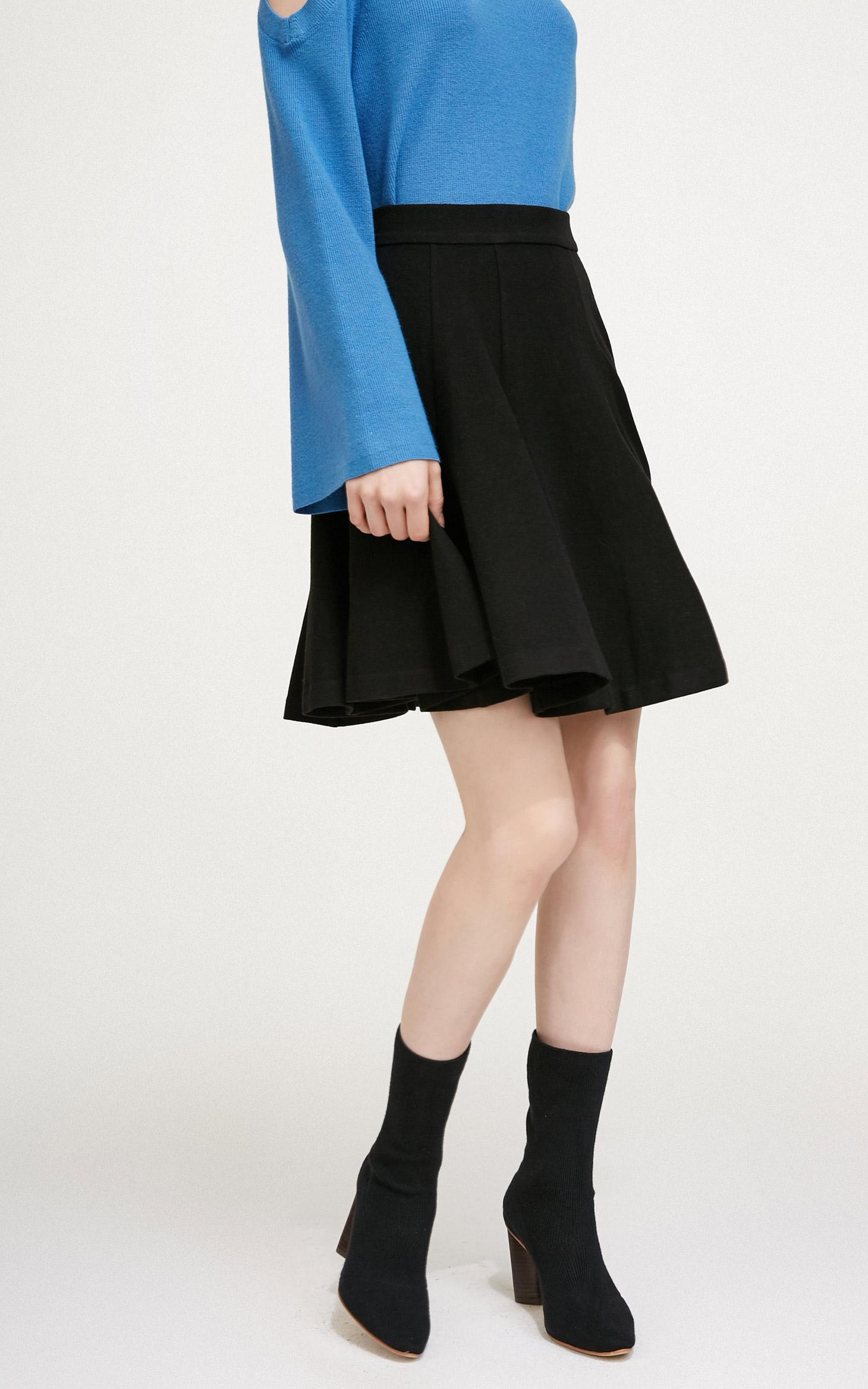 A字裙摆微弹半身裙
